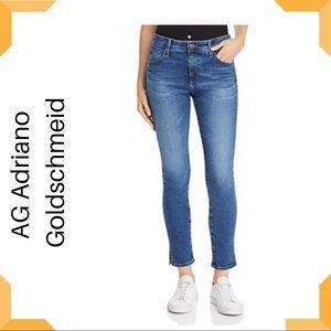 AG Farrah High Rise Ankle Skinny Jeans Medium Wash